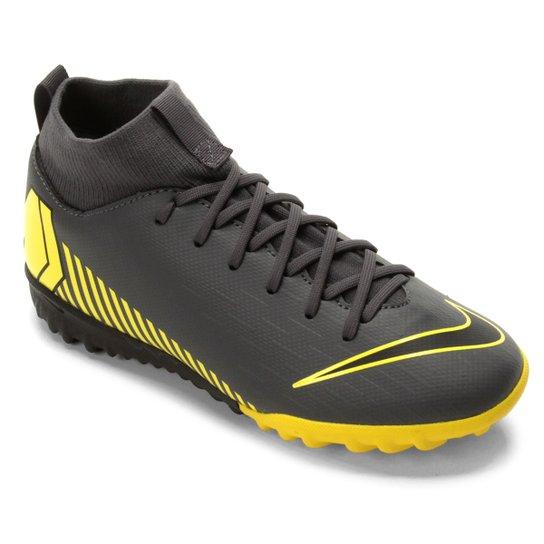 d8ce0f5a9c Chuteira Society Infantil Nike Mercurial Superfly 6 Academy Gs TF - Cinza