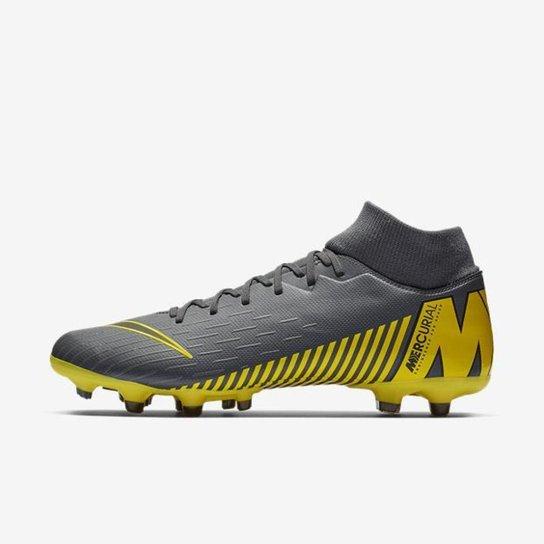 700609e381 Chuteira Nike Mercurial Superfly VI Academy Campo - Cinza