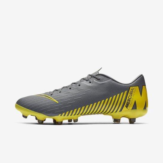 cb99e60ee99 Chuteira Nike Mercurial Vapor XII Academy Campo - Cinza - Compre ...