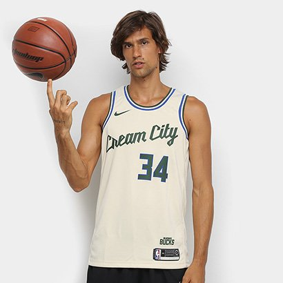 Regata NBA Milwaukee Bucks Nike Swingman Jersey Masculina