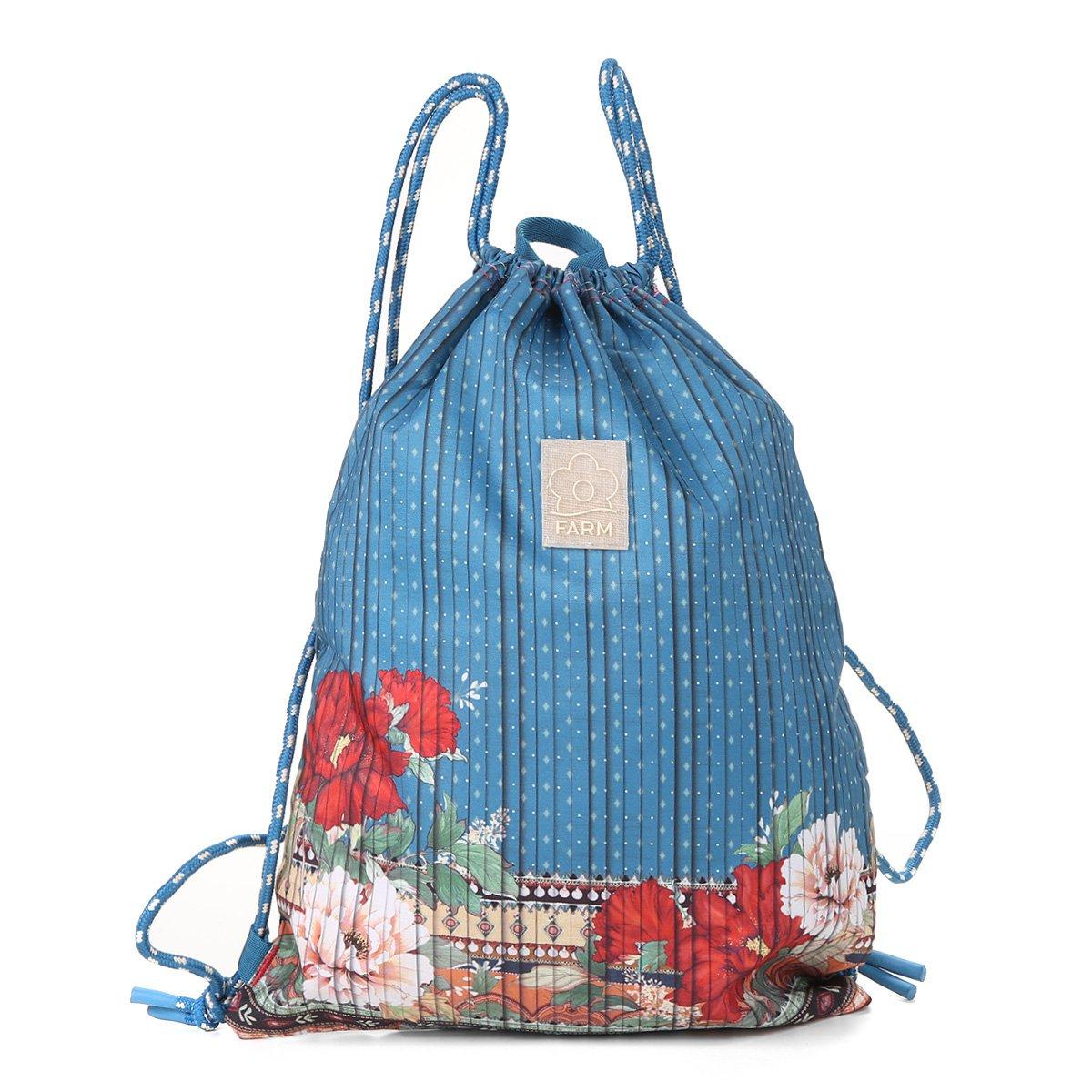 e98f456d0 Bolsa Farm Saco Estampada Feminina - Shopping TudoAzul
