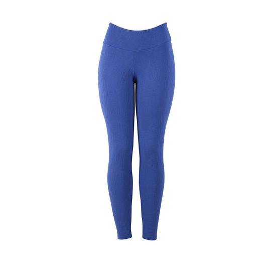 be45f95384d7c Calça Legging Feminina Jacquard Fitness - Azul Royal - Compre Agora ...