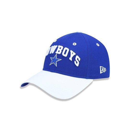 Boné 920 Dallas Cowboys NFL Aba Curva Strapback New Era - Azul Royal ... cb6b45e448c
