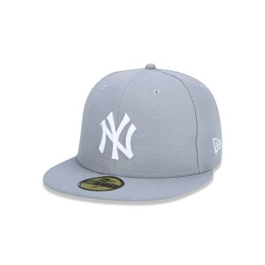 Bone 5950 New York Yankees MLB Aba Reta Cinza New Era - Cinza ... 7cafb8cfec7