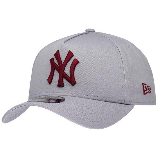 0fc46ef7cf Boné New Era Aba Curva Sn Mlb Ny Yankees Af Gra - Cinza | Netshoes