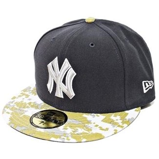 Boné New Era Aba Reta Fechado Mlb Ny Yankees Stand Of Arms