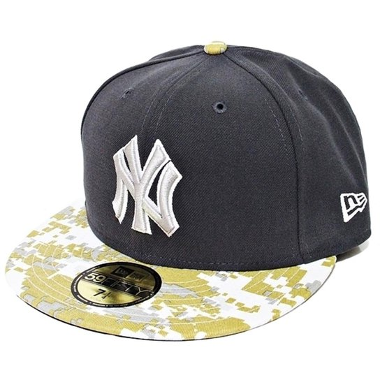4c0e033d98 Boné New Era Aba Reta Fechado Mlb Ny Yankees Stand Of Arms - Cinza ...