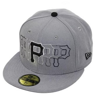 Boné New Era Aba Reta Fechado Mlb Pirates Stop Motion 6ec6339e752