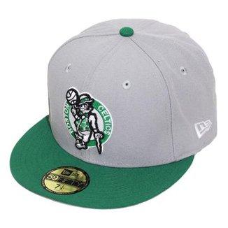 35831b833 Boné New Era Aba Reta Fechado Nba Celtics Tone Basic