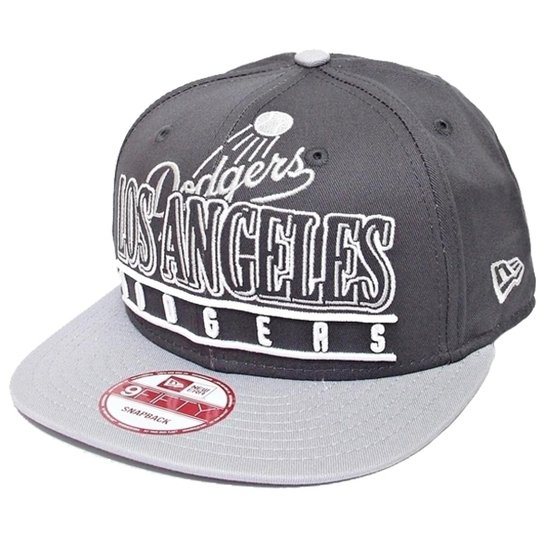 7ec1fce00 Boné New Era Aba Reta Snapback Mlb Los Angeles Stack Punch - Cinza ...