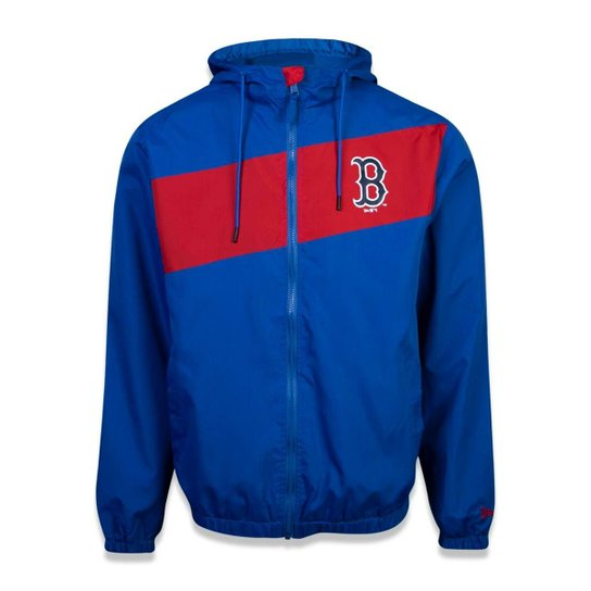 d24c6f6c1 Jaqueta Windbreak Boston Red Sox MLB New Era Masculina - Azul Royal ...