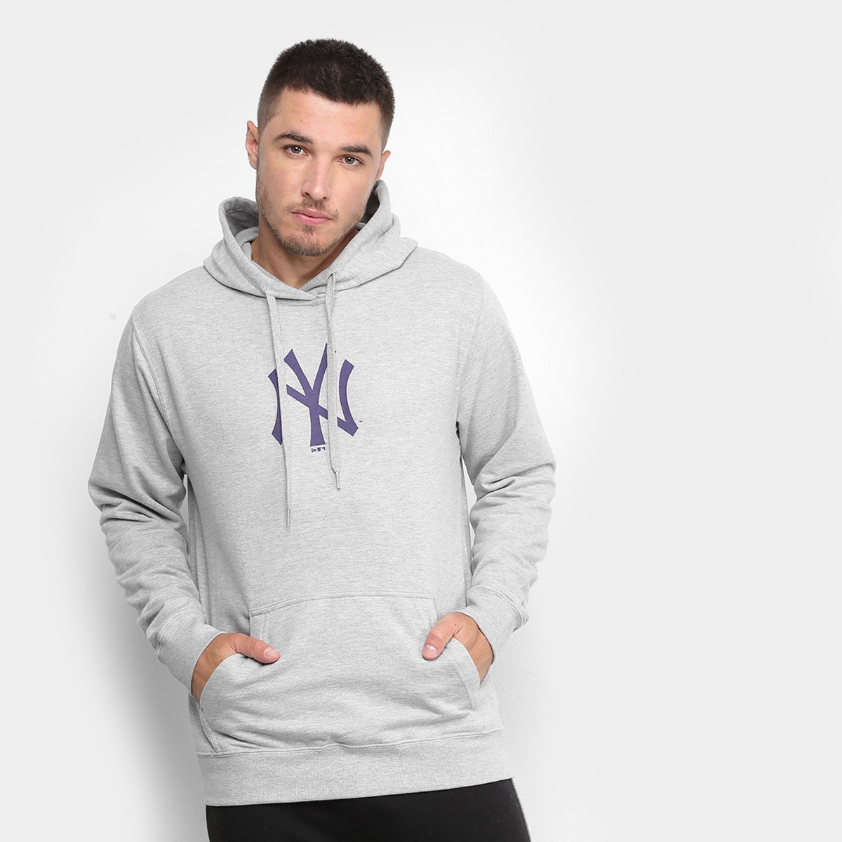 Moletom New Era New York Yankees Essentials Litte Masculino