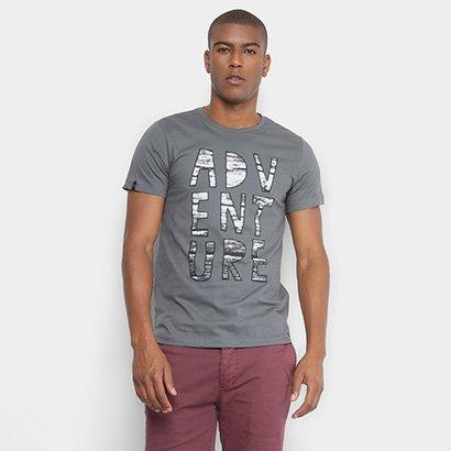 Camiseta All Free Malha Estampada em Gel Adventure Masculina