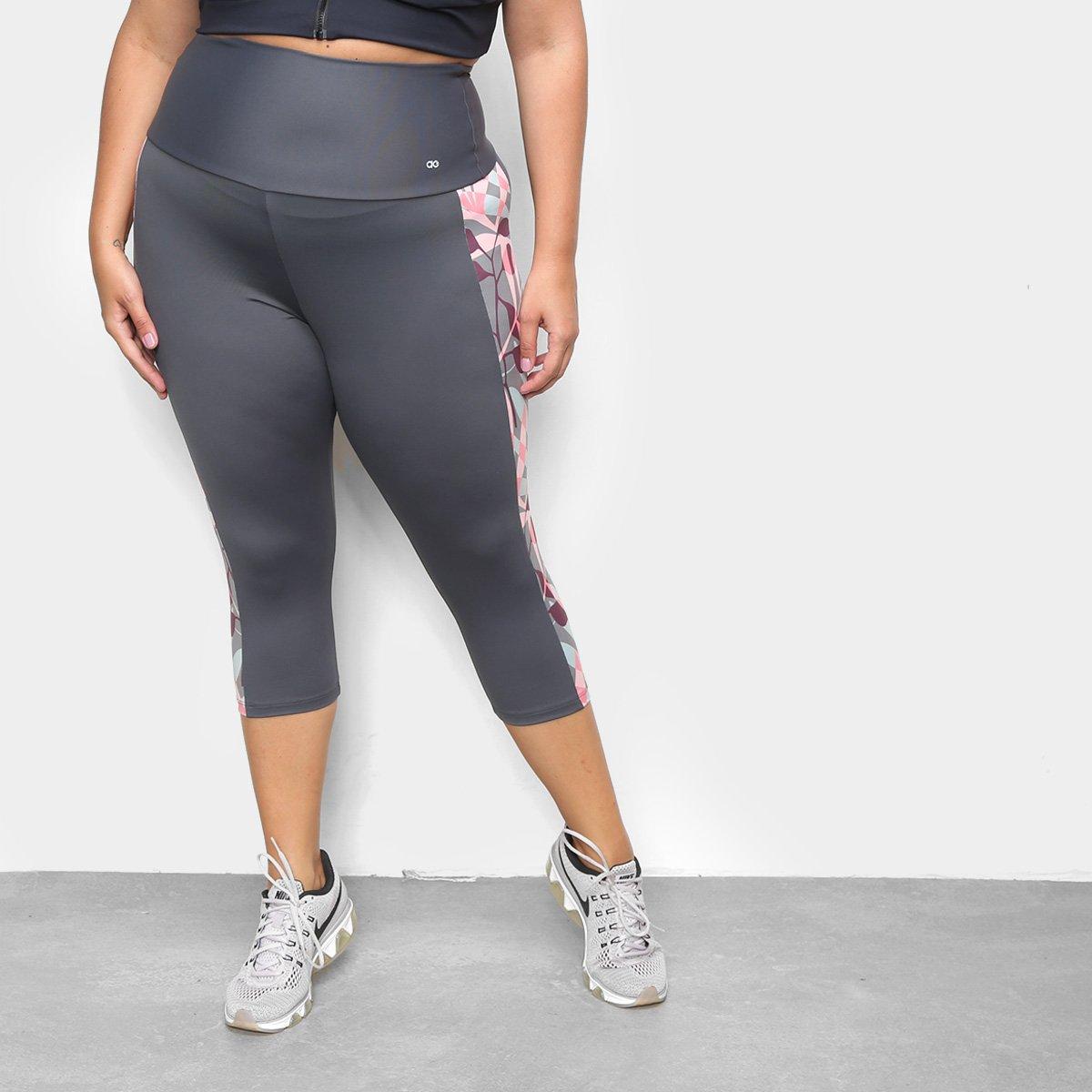 Corsário Alto Giro Athletic Sublimação Plus Size Feminina