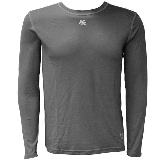 Camisa Térmica Kanxa Com Proteção Solar - Cinza - Compre Agora ... b0490fc5cb3dc