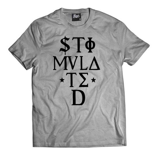 7f7a2ce0c360a Camiseta Skull Clothing Stimulated Letra Masculina - Cinza - Compre ...