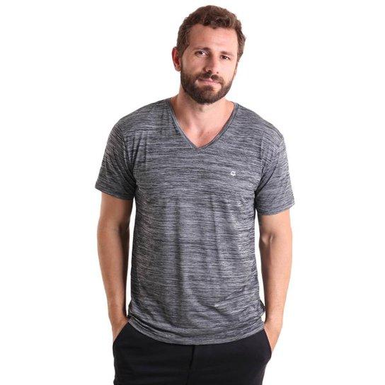 5bc7618aa Camiseta Masculina gola V Mescla - Cinza - Compre Agora
