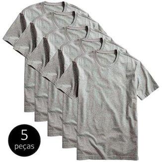 3f40bfabe3561 Kit 5 Camisetas Part. B Básicas 100% Algodão