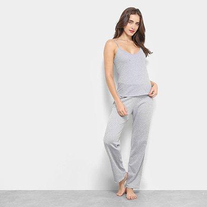 Conjunto Pijama Flora Zuu Básico Poá Feminino