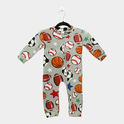 Macacão Infantil Longo Candy Kids Pijama Soft Zíper Baby