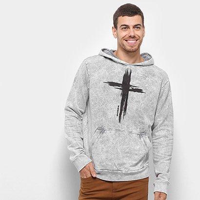 Blusa Moletom Bossa Brasil The Cross Canguru Masculina
