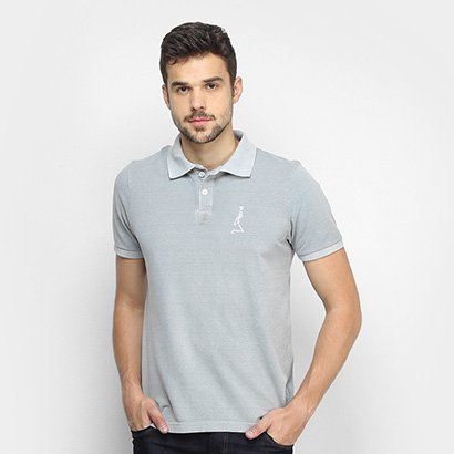 Camisa Polo Derek Ho Dark Washed Piquet Masculina
