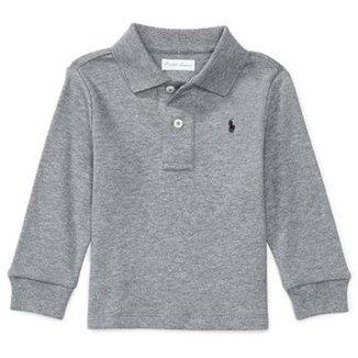 7bab418fe0014 Camisa Polo Bebê Ralph Lauren Manga Longa Masculina