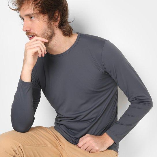 Camiseta Treebo Manga Longa UV Masculina - Cinza - Compre Agora ... f948f0e0234