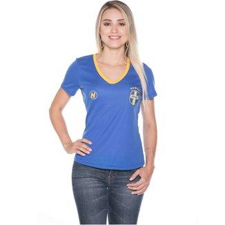 Compre Camisa Feminina Brasil Personalizada Online  bebb196102857