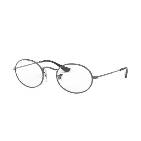 d9b8d4f27 Óculos de Grau Ray-Ban Oval Masculino - Cinza   Netshoes