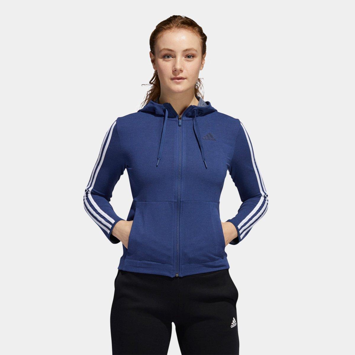 Blusa Adidas 3S Knt Fz Hoody Feminina