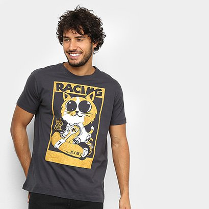 Camiseta BRKsEdu Kart Cat Masculina