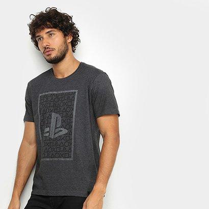 Camiseta PlayStation Brand Logo Square Masculina
