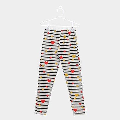 Calça Legging Infantil Rovitex Estampada Feminina