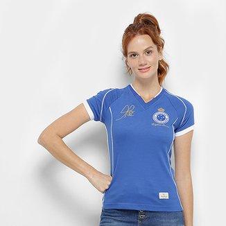 Camiseta Cruzeiro Retrô Mania 2003 Alex Tríplice Coroa Feminina 28e16b96a1859