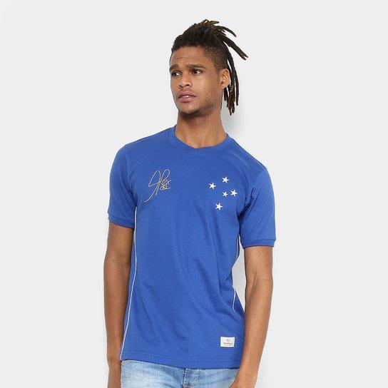 Camiseta Cruzeiro Retrô Mania 2003 Copa do Brasil Masculina - Azul Royal 71aa938a841e2