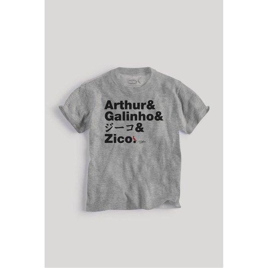 Camiseta Infantil Reserva Mini Nomes Zico Masculina - Cinza - Compre ... 38a8fb34d69a9
