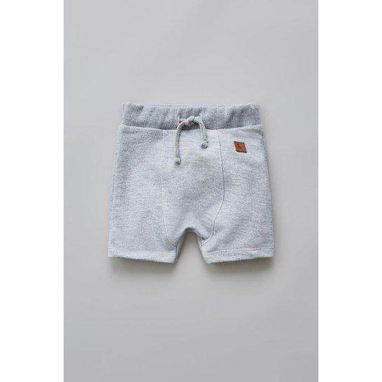 a81269873 Bermuda Bebê De Moletom Basico Reserva Mini Masculina - Cinza