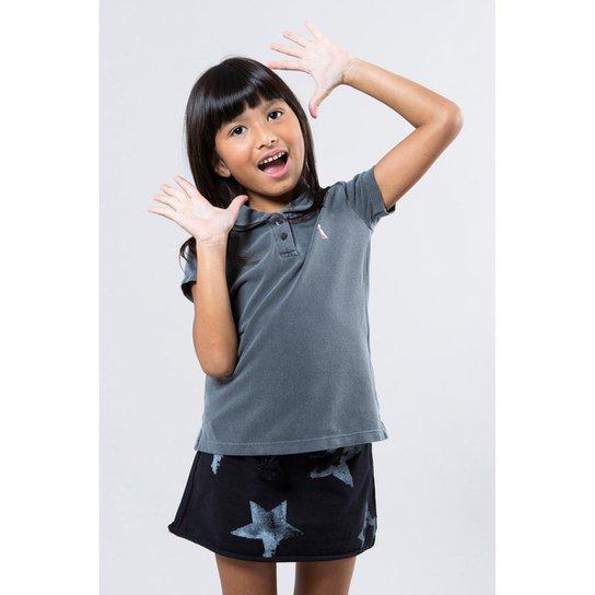 43a80a8802 Camisa Polo Infantil Reserva Mini Feminina - Cinza - Compre Agora ...