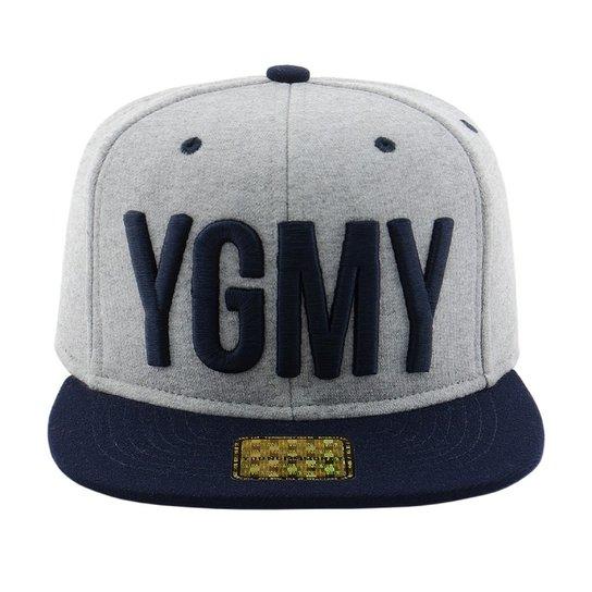 ccbe2fcdba556 Boné Aba Reta Young Money Snapback YMGY Moleton - Cinza - Compre ...