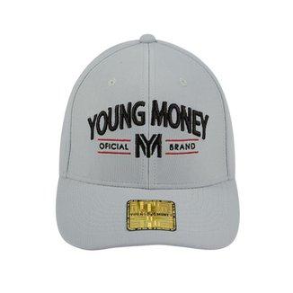 9eaafaf3bbe81 Boné Aba Curva Young Money Fechado Oficial Brand