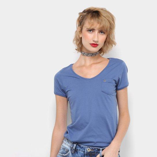 0aaa0bdd32 Camiseta Drezzup com Bolso Feminina - Azul Royal