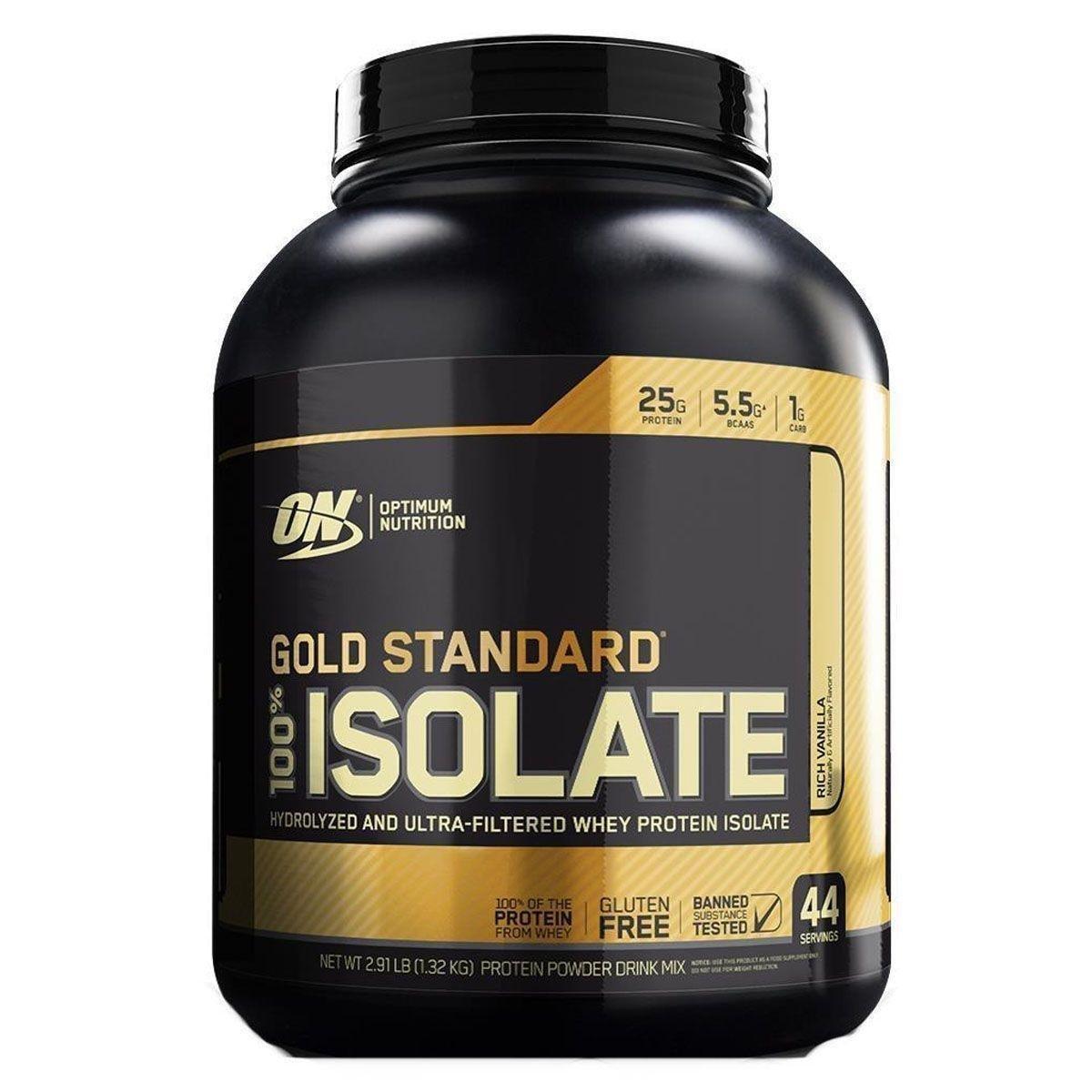 633fe92e0 100% Isolate Gold Standard 2.91 Lbs (1.32kg) Optimum Nutrition - Baunilha