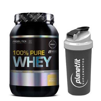 100% Pure Whey 900g Probiótica + Coqueteleira 600ml