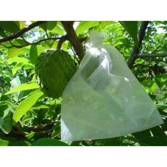 100 Sacos Em Tnt Para Proteção De Frutas No Pe 21 X 25 Cm