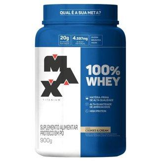 100% Whey 900g Pote Max Titanium