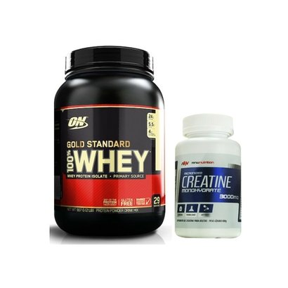 100% Whey Gold Standard 2 Lbs - Optimum Nutrition + Creatina 100gr - MNW Nutrition - Unissex