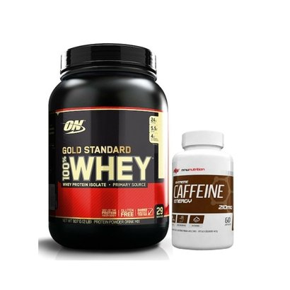 100% Whey Gold Standard 2 Lbs - Optimum Nutrition + Extreme Caffeine Energy - MNW Nutrition - Unissex