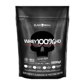 100% Whey HD Baunilha 900g Refil - Black Skull