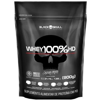 100% Whey HD Chocolate 900g Refil - Black Skull